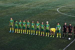 Kireçburnu Spor - Kireçburnu Spor squad in a 2015–16 season's home match.