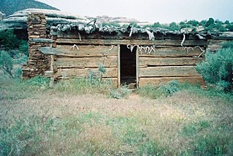 National Register of Historic Places listings in San Juan County, Utah - Image: Kirk's Cabin UT NPS