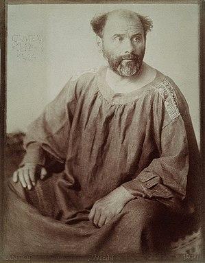 Gustav Klimt - Photographic portrait from 1914