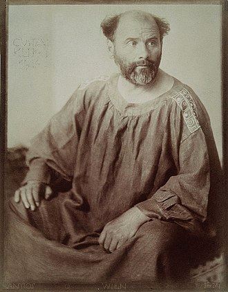Gustav Klimt - Photographic portrait from 1914