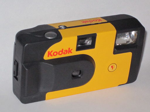Kodak disposable camera, front view - IMG 0992