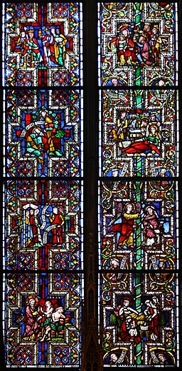 Koeln Dom Fenster AeltBibel