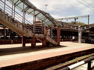 Kollam Junction railway station - Image: Kollam Junction foot overbridge