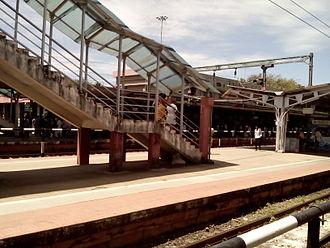Kollam Junction railway station - Image: Kollam Junction foot overbridge