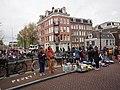 Koningsdag in Amsterdam, Lijnbaansgracht, Westerkade, Bloemgracht foto 1.JPG
