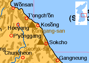 Mount Kumgang - Location of Mount Kumgang.