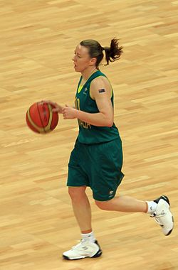 Kristi Harrower - London 2012 Olympics Womens Basketball (Australia v Russia).jpg