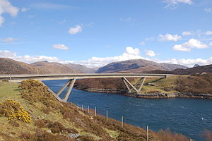 Kylesku - The new bridge carries the A894 road across the Kyles from Kylesku to Kylestrome
