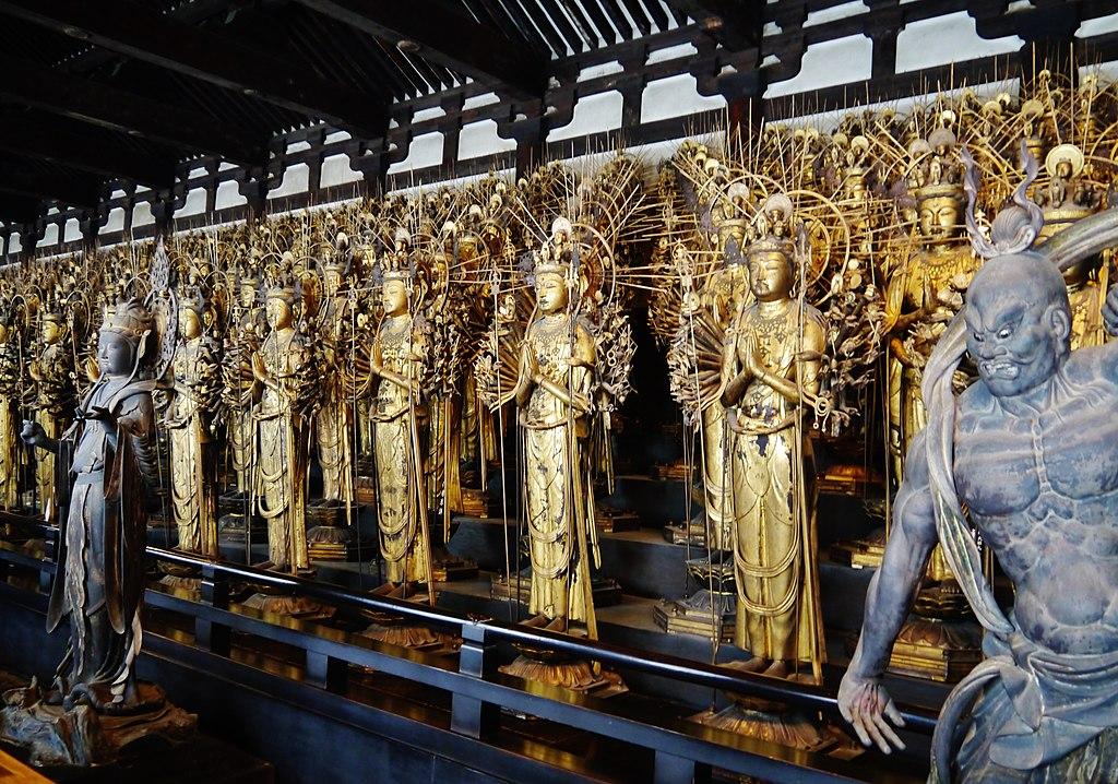 Kyoto Sanjusangen-do Haupthalle Inen Buddhastatuen 1