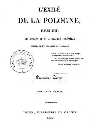 Stanislas Hernisz - L'Éxilé de la Pologne 1833