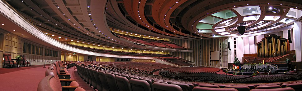 LDS Conference Center interior panoramic
