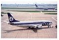 LOT Polish Airlines Boeing 737-45D; SP-LLC@LHR;13.04.1996 (4992408245).jpg