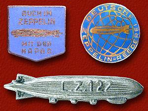 LZ 127 Graf Zeppelin - Zeppelin lapel pins 1928–37