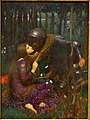 La Belle Dame Sans Merci, by John William Waterhouse, 1893, oil on canvas - Hessisches Landesmuseum Darmstadt - Darmstadt, Germany - DSC01228.jpg