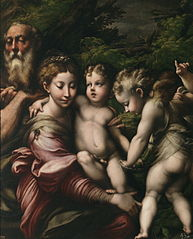 The Holy Family with with angels