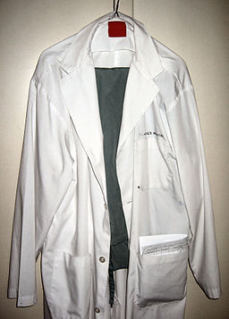 Lab coat and scrubs
