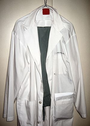 English: My lab coat and scrubs -- Samir धर्म ...