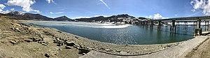 Lake Campotosto - Panoramic view from Lake Campotosto.