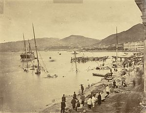 1874 Hong Kong typhoon - Lai Afong's photo of the Typhoon's aftermath.