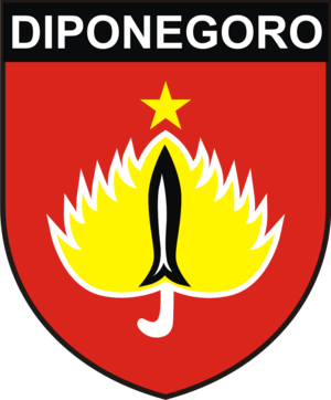 Kodam IV/Diponegoro - Coat of Arms and patch worn by Kodam IV/Diponegoro personnel.
