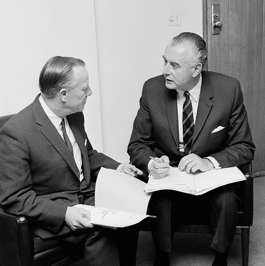 Lance Barnard and Gough Whitlam
