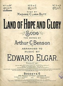 Land of Hope and Glory by Elgar song cover 1902.jpg