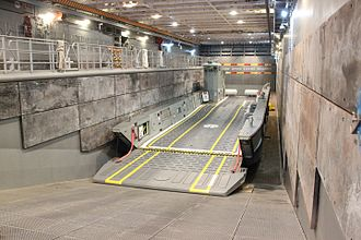 Well dock - Image: Landing craft on well deck HMAS Canberra