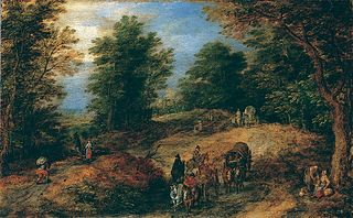 Landscape with Travelers on a Woodland Path