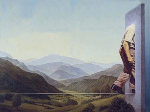 Landschaft mit Seiltänzer, Öl auf Leinwand, 1979.jpg
