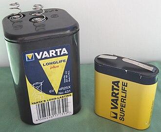 Lantern battery - Image: Lantern battery comparison 1