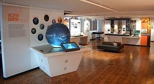 Lapworth Museum of Geology - Active Earth gallery of the Lapworth Museum of Geology. The gallery explores Earth processes such as climate change, earthquakes and volcanoes.