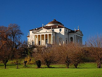Mansion - Renaissance villas such as Villa Rotonda near Vicenza were an inspiration for many later mansions, especially during the industrialisation.