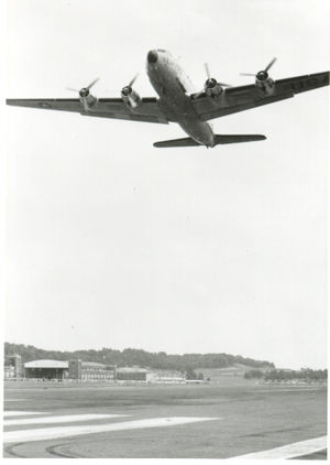 Joint Base Anacostia–Bolling - The last fixed-wing flight out of Bolling Air Force Base, 1962.