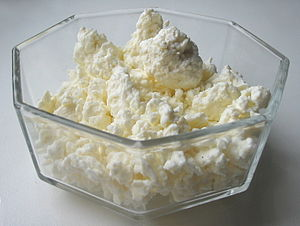 Quark (dairy product) - Russian tvorog / Ukrainian syr / Austrian topfen, a firmer and drier variety of quark