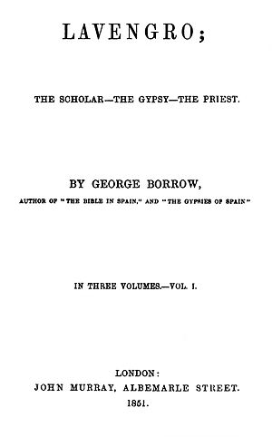 Lavengro - First edition title page