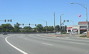 California County Routes in zone G - Lawrence Expressway at Prospect Road