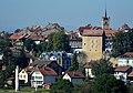 Le cigognier, la tour de l'évêque et de l'Eglise d'Avenches.jpg