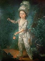 Le dauphin Louis-Joseph Xavier François de France, attribué à Jean-Baptiste André Dagoty, fin des années 1780