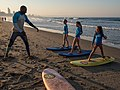 Learning to surf with Ocean Adventures, Durban beach front. KwaZulu Natal, South Africa (20513314375).jpg