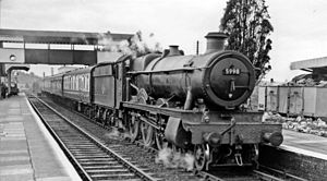 Ledbury railway station - Hereford to Paddington express in 1958