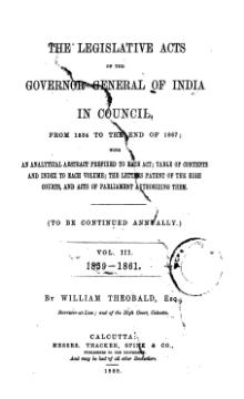 Legislative Acts of the Governor General of India in Council, 1859-1861.djvu