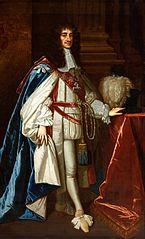Portrait of Charles II of England.