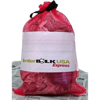 Leno weave - Woven leno mesh bag for shellfish, firewood and produce.
