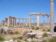 Ruins of Leptis Magna in Libya