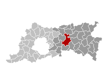 Location of Leuven in Flemish Brabant