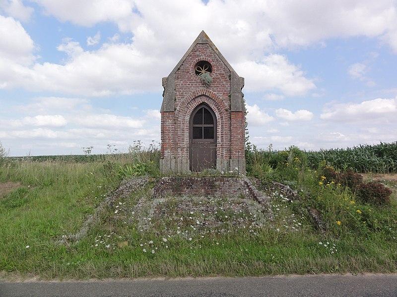 Levergies (Aisne) chapelle D 21 sur la hauteur
