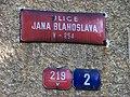 Liberec-Kristiánov, Blahoslavova, tabule ulice Jana Blahoslava a domovní čísla.jpg
