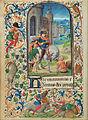 Lieven van Lathem (Flemish - Saint Martin Dividing his Cloak - Google Art Project.jpg