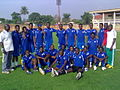 Line up with my team after training in enugu..jpg