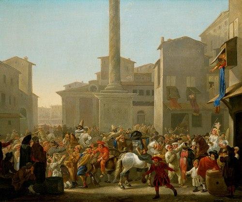 Lingelbach, Johannes - Carneval in Rom - c. 1650-1651